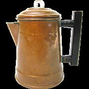 Cute Little Copper Four Cup Coffee Pot