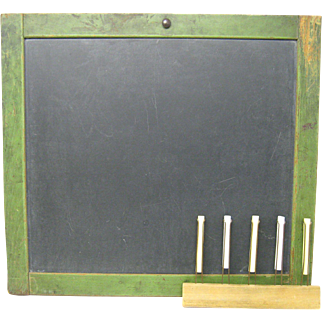 Vintage Blackboard with Chalk Line Marker