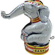 Vintage Chein Mechanical Elephant Bank