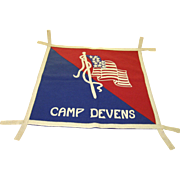 WW1 Wool Camp Devens Wall Banner Pillow Cover