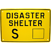 Cold War Shelter Sign