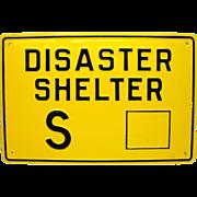 Cold War Shelter Sign