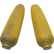 Two Wood Corn Cob Decoys