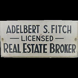 Vintage Primitive Wood Sign