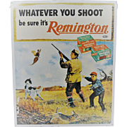Large Tin Remington Sign