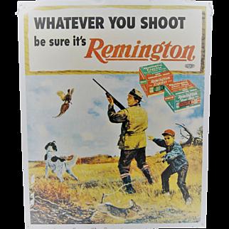 Large Tin Remington Sign
