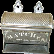 Vintage Tin Barrel Match Safe
