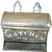 Vintage Tin Barrel Match Safe