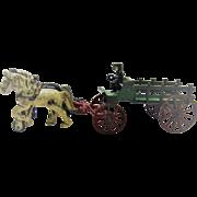 Vintage Kenton Two Horse Stake Wagon