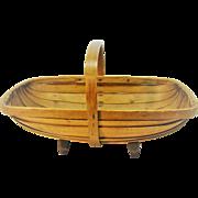 Vintage English Garden Trug Basket