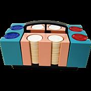 Circa 1950'S Poker Chip Carrier