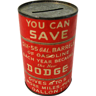 Old Dodge Advertising Barrel Bank