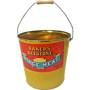 Vintage Keystone Mince Meat Metal Bucket