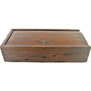 Rare 1800's Primitive Wooden Knife Scrub Box