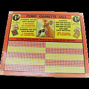 Vintage Cigarette Punch Board