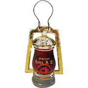 Vintage Ruby Flash Lantern Candy Container