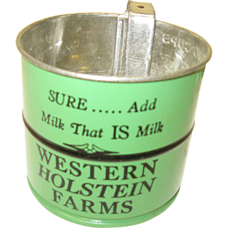 Vintage 50's Advertising Sifter