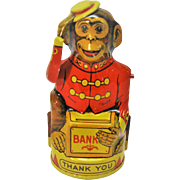 Vintage J. Chein Monkey Bank
