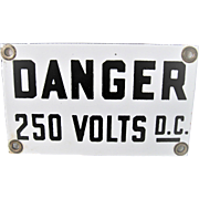 Two Small Porcelain Danger Signs