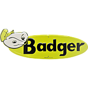 Mint Badger Tin Farm Sign