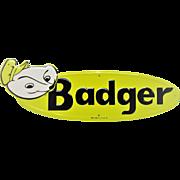 Mint Badger Tin Farm Sign