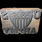 U.S. Army Printing Block