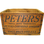 Peters Wood Ammunition Box