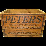 Peters Wood Ammunition Box