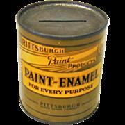 Vintage Pittsburgh Paint Bank Premium