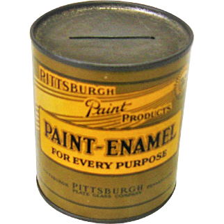 Vintage Pittsburgh Paint Bank Premium