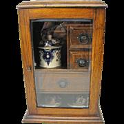 Antique Oak Tea Cabinet
