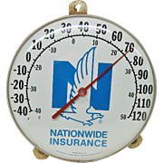 Vintage Nationwide Insurance Advertising Thermometer