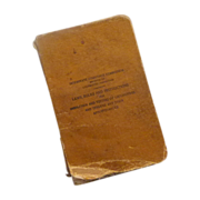 1919 Locomotive Train Inspection Book
