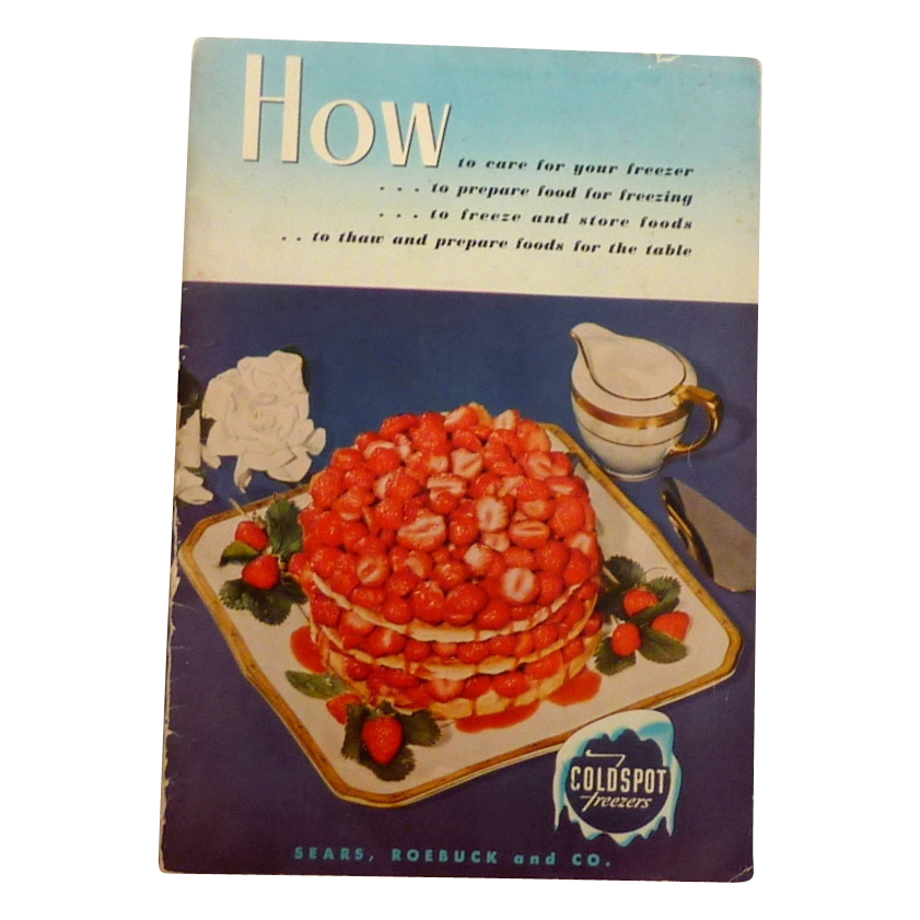 Sears Roebuck Freezer Coldspot Book From Rubylane Sold On