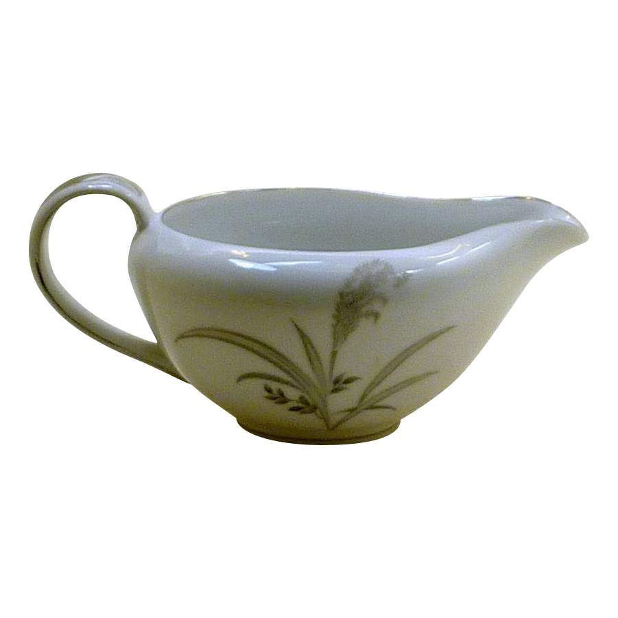 Wentworth China Creamer Silver Wheat Pattern