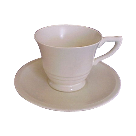 Satin Crème Yellow GMcB Franciscan Coffee Cup & Saucer Pottery