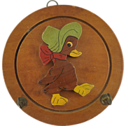 Adorable Duck Bird Wood Pot Holder Plaque