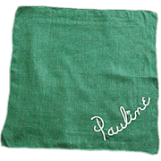 Pauline Green Cotton Handkerchief Hankie