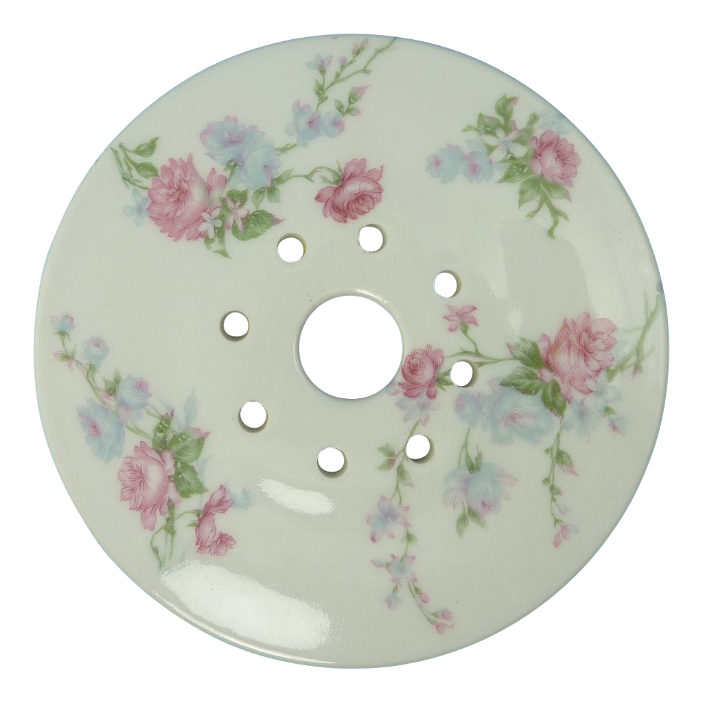 Shabby Chic Rose China Butter Drain Insert