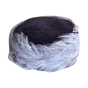 Blue Pill Box Feather & Net Hat 1960's