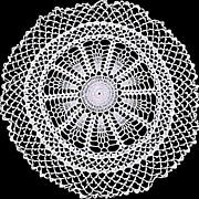 Ecru White Crochet Large Round Doily