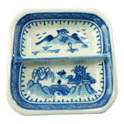 Oriental Blue Tea Bag Small Dish / Ashtray / Trinket Plate