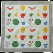 Kitchen Ewer Pitchers and Platter Handkerchief