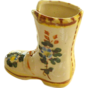 Ceramic Tooth Pick Holder Boot Shoe Japan 1950's