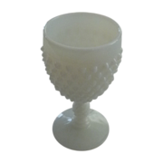 Fenton Wine Glass Hobnail Milk Glass Goblet