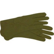 Van Raalte Green 1950's  Size 7 Gloves - Red Tag Sale Item