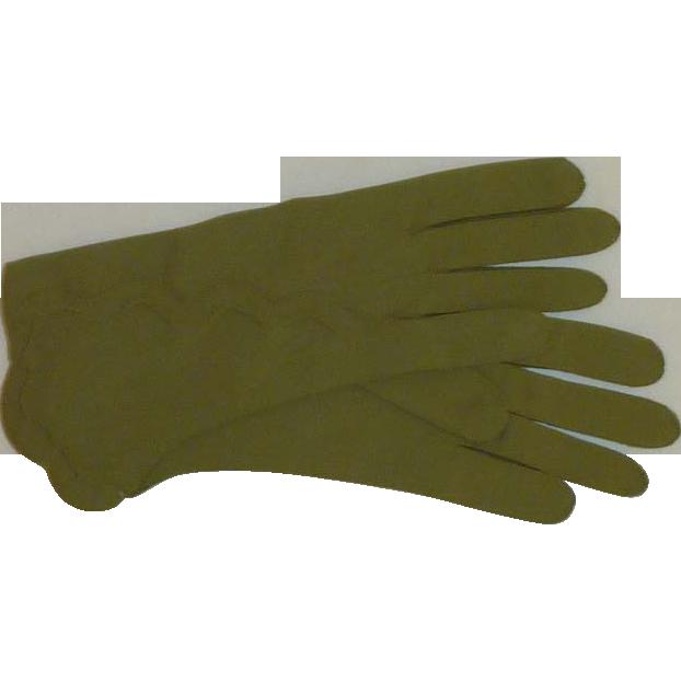 Van Raalte Green 1950's  Size 7 Gloves