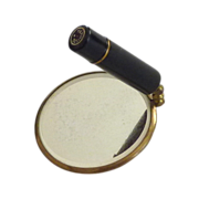 Cosmetic Schildkraut  Mirror and Lipstick Holder