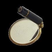 Cosmetic Schildkraut  Mirror and Lipstick Holder