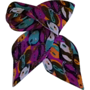 Fun Faces Vintage Neck Ridge Waffle Multi Colored Scarf